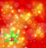 Christmas holiday wallpaper with decoration — Stock Vector