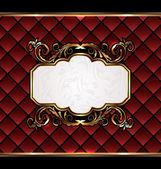 Vintage emblema aristocrático, gran fondo — Stockvector