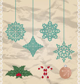 Set Christmas and New Year elements — Stock Vector
