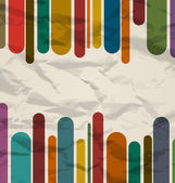 Old striped template, colorful vintage background — Vettoriale Stock