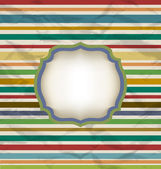 Retro stripe pattern, colorful vintage background — Stock Vector