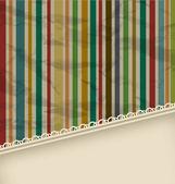 复古条纹复古与 copyspace 的文本 — 图库矢量图片