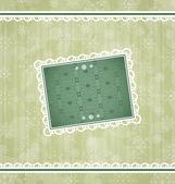 Christmas vintage frame, ornamental design elements — Stock Vector