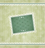 Christmas vintage frame, ornamental design elements — Vector de stock