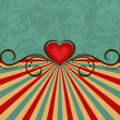 Valentine's Day vintage background  — Imagen vectorial