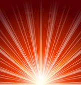 Lens flare with sunlight, abstract background — Stock Vector