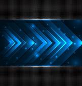 техно абстрактный фон с установить прозрачный стрелы — Cтоковый вектор