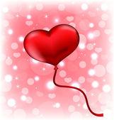 Ballong i form av hjärta — Stockvektor