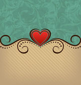 Valentine's Day retro elegance background — Vettoriale Stock