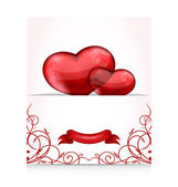 Valentine's day letter with hearts — Stock Vector