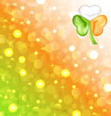 Shamrock in Irish flag color for Saint Patrick day — Stock Vector