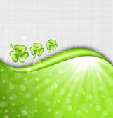 St. Patrick Day background with trefoil — Stock Vector
