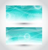 Conjunto abstracto agua pancartas, plantilla de diseño — Vector de stock