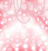 Niedliche rosa hintergrund mit perlen — Stockvektor