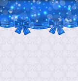 Cute background with ribbon bows — Vettoriale Stock