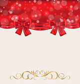 Holiday background with gift bows — Vecteur