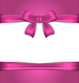 Elegance pink wrapping with ribbon bow — Stock Vector