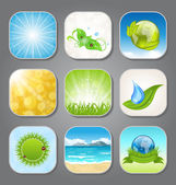 Set different backgrounds for the app icons — Stock Vector