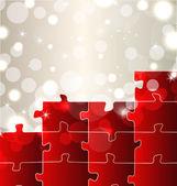 Abstrakt mit set puzzle-teile — Stockvektor