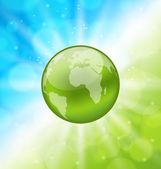 планета земля на светящейся абстрактный фон — Cтоковый вектор