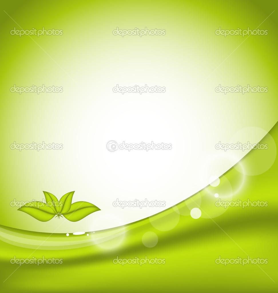 生态背景与绿色的树叶