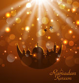 Celebration glowing card for Ramadan Kareem — Stock Vector