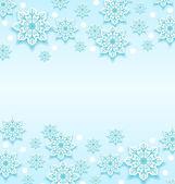 Fond abstrait hiver avec flocons de neige — Vecteur
