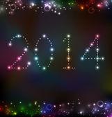 Nový rok večer pozadí se světlem — Stock vektor