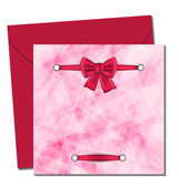 Christmas beautiful card with gift bow — Vector de stock