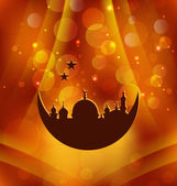 Greeting card template for Ramadan Kareem — Vector de stock