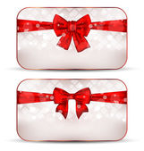 рождественские открытки с подарочные банты — Cтоковый вектор