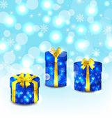 Set Geschenkboxen auf hellem Hintergrund — Stockvektor
