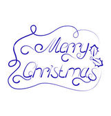 Cute Christmas lettering, handmade calligraphy — Stock Vector