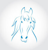Symbol outline head horse isolated on white background — Stock Vector