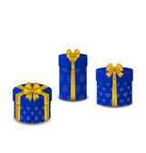 Collection gift boxes isolated on white background — Stock Vector