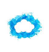 又脏又臭的框架与孤立的白色背景上的云 — 图库矢量图片