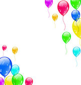 Set colourful flying balloons for your party — Stock vektor