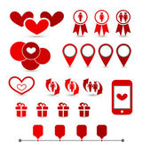 Set infographic elements of valentine presentation — Vecteur