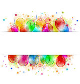 Set party balloons, confetti with space for text — Stock Vector