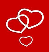 Sevgililer günü kartı için kağıt kalpler — Stok Vektör