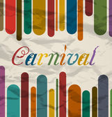 Old colorful card with text for carnival festival — Stock Vector