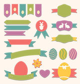 Easter scrapbook set - labels, ribbons and other elements (3) — Stock Vector