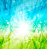 Modern abstract background with sun rays — Stock Vector