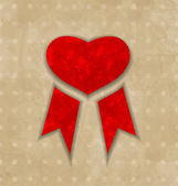 Award ribbon heart for Valentines day, vintage design — Wektor stockowy