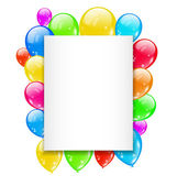 Birthday card with colorful balloons with space for text — Stock Vector