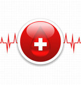 Abstract medical background, save life heart — Stock Vector
