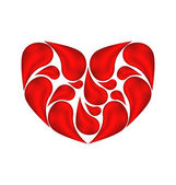 Abstract heart made of drops blood — Stock Vector