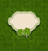 Holiday card with clovers for St. Patrick's Day  — Stok Vektör