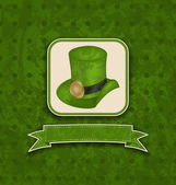 Holiday background with hat and ribbon for St. Patrick's Day — Stockvektor