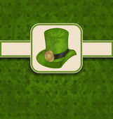 Holiday background with hat and ribbon for St. Patrick's Day — Cтоковый вектор